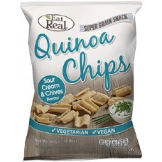 QUINOA CRISPS - SOUR CREAM & CHIVES (Eat Real) 30g